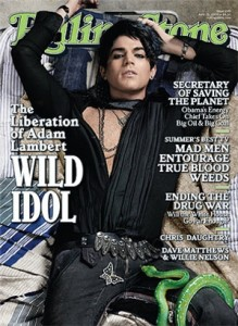Adam Lambert on the cover of Rolling Stone